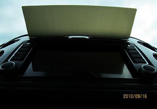 利用途观卡槽制作DVD遮阳档板